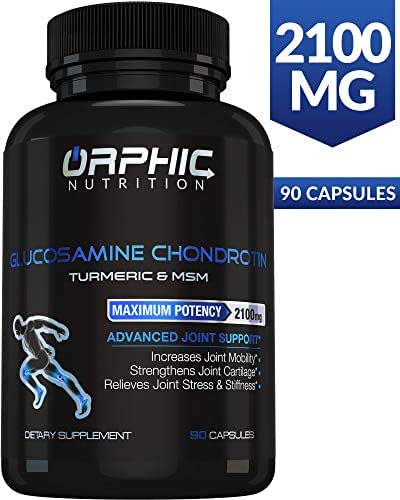 Glucosamine Chondroitin - Turmeric & MSM 2100MG Anti Inflammatory Supplements for Joint Cartilage Health - Stiffness & Arthritis Pain Relief for Men, Women - Advanced Formula, Increases Mobility