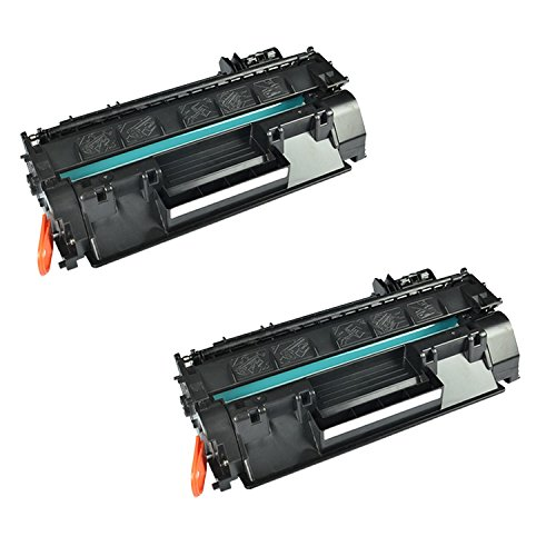 Remanufactured Replacement Laser Toner Cartridge for Hewlett Packard CF280A (HP 80A) Black -2PK