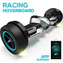 """Gyroor G-F1 Hoverboard,8.5"""" Off Road Hover Board with Bluetooth Speaker&LED Lights,Fastest Racing Self Balancing Scooter with App for Kids and Adult,UL2272 Certified(Silver)"""