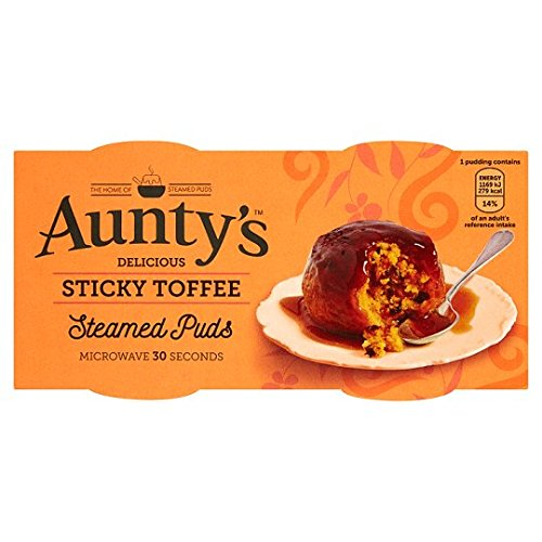 Auntys Sticky Toffee Puddings 2 X 95G