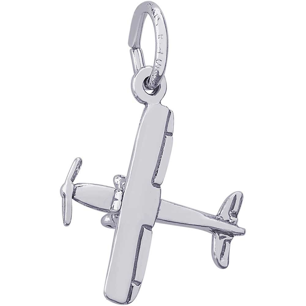 Rembrandt Charms Cessna 180 Charm, Sterling Silver