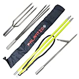 Spearfishing 5' Fiber Glass Travel 2piece Hawaiian Sling Pole Spear 3 Tips Set