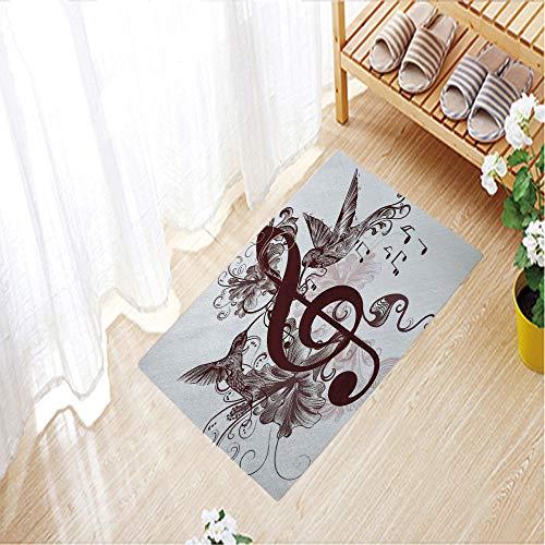 - 3D Printing Doormat Collection Rectangular Doormat (Machine-Washable/Non-Slip),23.6