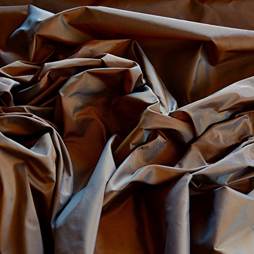 "Brown & Blue Iridescent Silk Taffeta, 100% Silk Fabric, By The Yard, 54"" Wide"