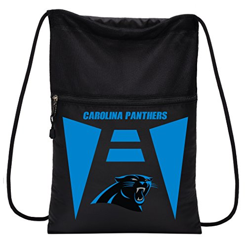 Officially Licensed NFL Carolina Panthers Team Tech Backpack Backsack, One Size -