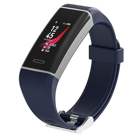 ZCY Rastreador De Ejercicios, Relojes Inteligentes para Hombres Impermeable/Ritmo Cardiaco Dormir Monitor Y