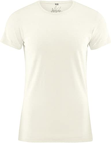 HEMPAGE Otto - Camiseta de Manga Corta para Hombre, Cuello Redondo ...