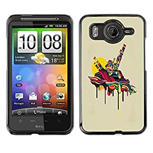 LECELL -- Funda protectora / Cubierta / Piel For HTC G10 -- Psychedelic Melting --
