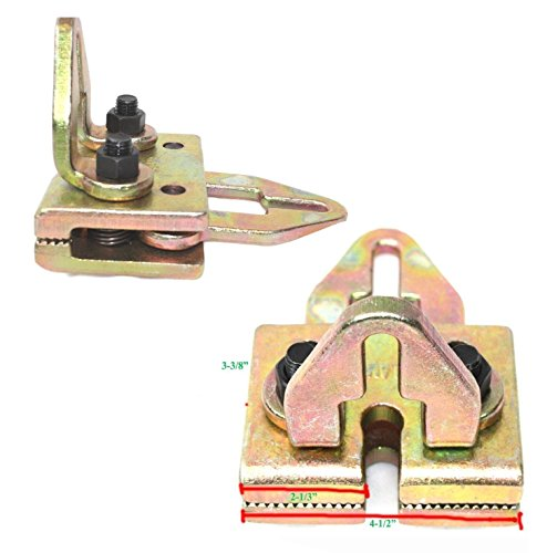 Body Frame Car - 5 TON 2 WAY FRAME BACK RACK CLAMP H - D REPAIR DENT PULLER CHASSIS STRAIGHTENERS