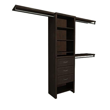 ClosetMaid Impressions 5 Ft.   10 Ft. Chocolate Basic Plus Closet System