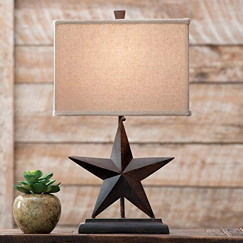 BLACK FOREST DECOR Lone Star Western Table Lamp - Rustic -