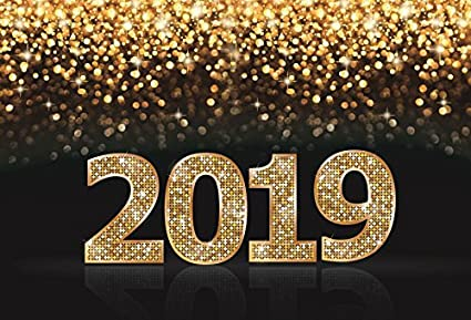 Amazon.com : Yeele 6x4ft 2019 Happy New Year Photography Backdrop ...