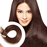 Tape in Human Hair Extensions 20 Inch 20pcs 50g/pack Silky Straight human Hair Extensions Medium Brown (#4 20inch)