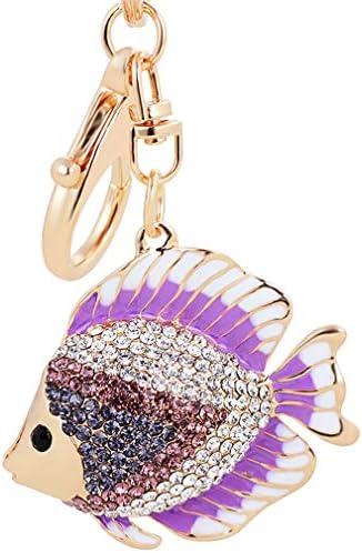 キーホルダー 海洋シリーズ 可愛い金魚 キーチェーン 合金 ペンダントチェーン バッグ飾り 車ペンダント 繊細 クリエイティブ