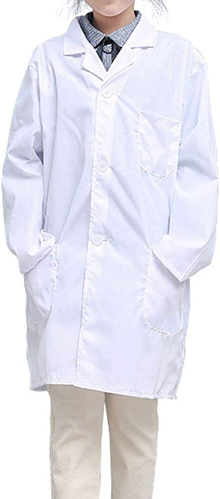CLanItris America Kids Unisex Doctor Lab Coat for Scientist Role Play Costume Set Soft Touch