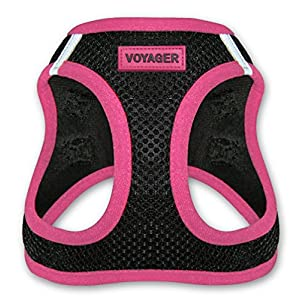 Voyager All Weather No Pull Step-in Mesh Dog Harness with Padded Vest, Best Pet Supplies, Small, Pink