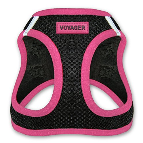 "Voyager Step-In Air Dog Harness - All Weather Mesh, Step In Vest Harness for Small and Medium Dogs by Best Pet Supplies - Pink, Large (Chest: 18"" - 21"")"