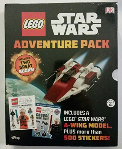 Lego Star Wars Adventure Pack Two Books Choose your Side, Character Encyclopedia Rebel & Imperial, A Wing- Model (Lego Star Wars Choose Your Side)
