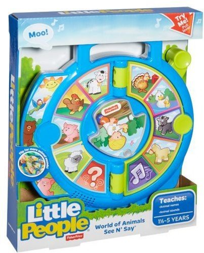 Fisher Price Toddler Pull Toy - Fisher-Price Little People World of Animals See 'n Say