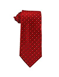 Youth Tie for children ages 8-14 years old Cherry Apple Red with White Squares Tie