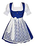 Dirndl Trachten Haus 3-piece Short German Party Oktoberfest Waitress Dress (16)