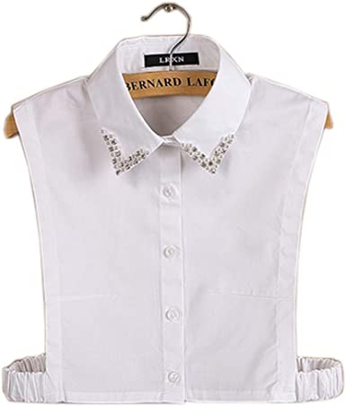 Black Temptation Collar de Camisa Falsa con Cuello Desmontable Elegante Simple Accesorio de Uso múltiple para Mujeres, C: Amazon.es: Ropa y accesorios