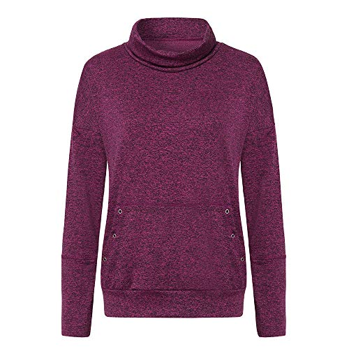 Cordon Neck Hiver Pull Femme Automne GreatestPAK Pochettes Ray Cowl Sweatshirt Violet Manches Longues Haut BqRIw8w