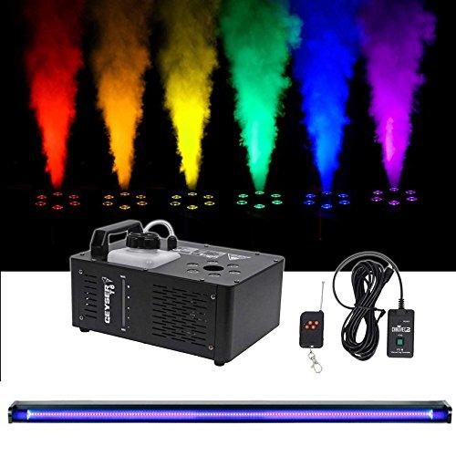 Chauvet DJ Geyser T6 Fog Machine Fogger, LED RGB+48