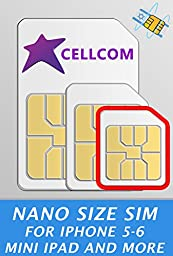 Cellcom Israel Prepaid SIM Card ♦ New & Activated ready for use with free incoming calls and SMS ♦ Including SIM Card Case ♦ Iphone Pin ♦ English user guide (Nano Size SIM)