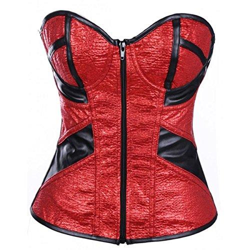 E-Girl FOB2953 Mujer Rojo Lencería y ropa interior Corsés y bustiers,M
