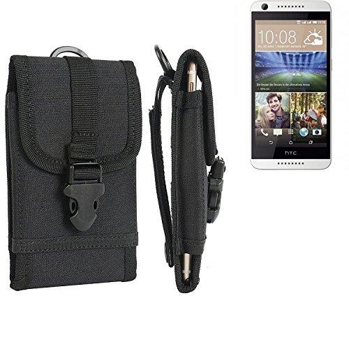 bolsa del cinturón / funda para HTC Desire 620G Dual SIM, negro | caja del teléfono cubierta protectora bolso - K-S-Trade (TM)