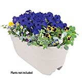 Emsco Group 2444D Rail Planter, White