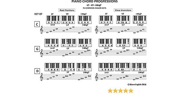 Piano Chord Progressions: ii7-V7-I Maj7 in Common Major Keys (Music Stand  Chord Charts Book 8)