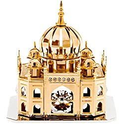 Mosque Temple Swarovski Crystal 24k Gold Plated Figure