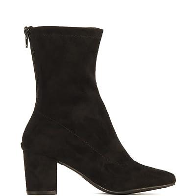 Shiekh Women's Camy-4S Mid-Calf Low Heel Boot Boot-Black