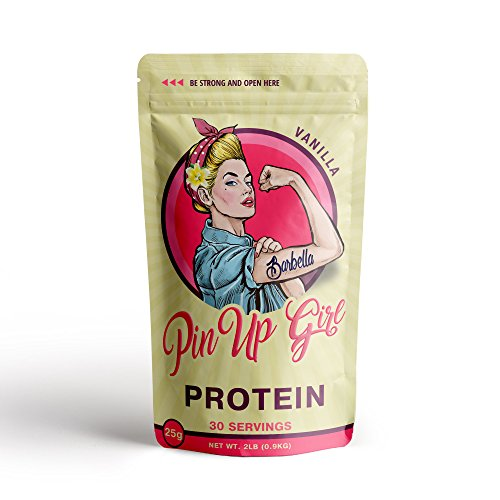 Pin Up Girl Protein Whey Isolate Powder – 25 Grams of Protein Per Serving – Vanilla – Low Calorie, Fat Free, Sugar Free, Zero Carb – For Women (30 Servings) -