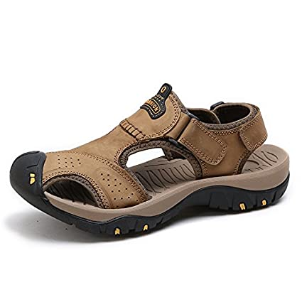 6ff0d95440e62 Amazon.com: Xing Lin Leather Sandals The New Summer Sandals Men ...
