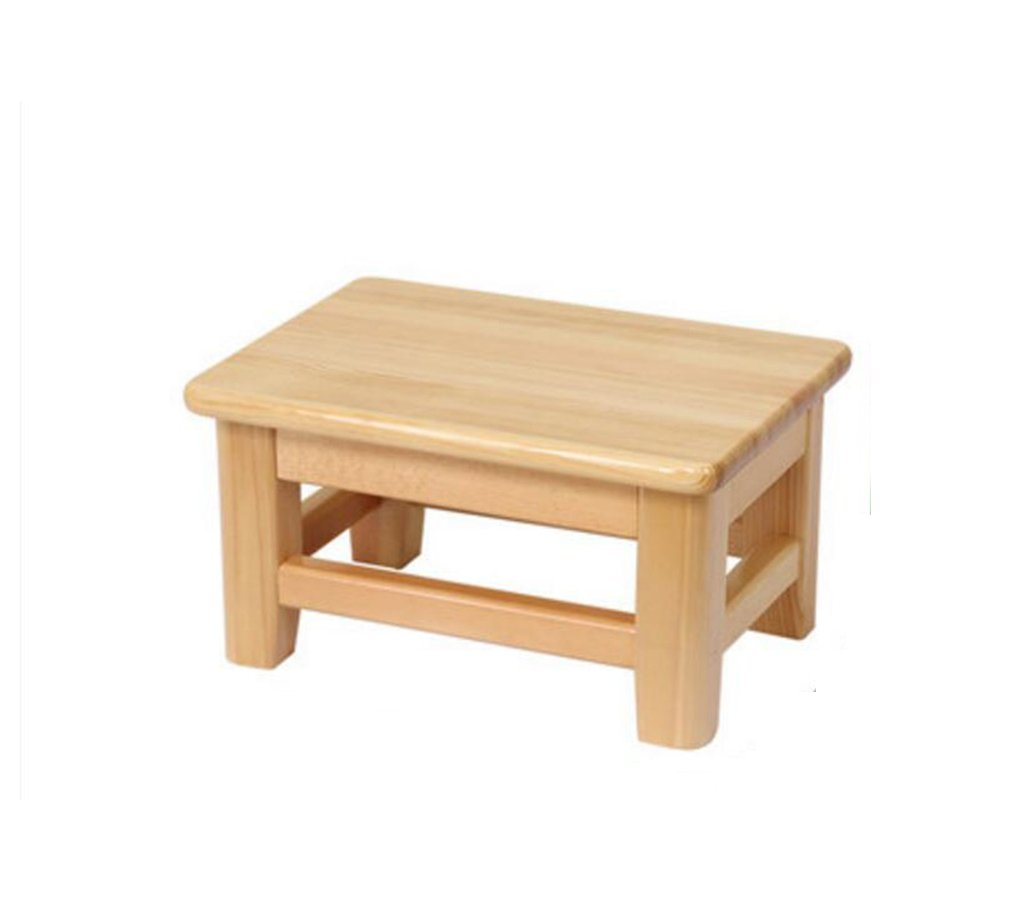 HCJSFD JCRNJSB Sofa Stool Solid Wood Household Child Low Stool Stool Adult Shoe Bench Footstool Small Stool Non-slip Bench Removable round Short leg sofa stool Wooden benc (Size : 282015cm)