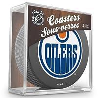 Sher-Wood Edmonton Oilers NHL Eishockey Puck Untersetzer (4er Set)