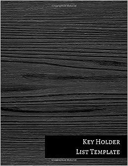 Key Holder List Template