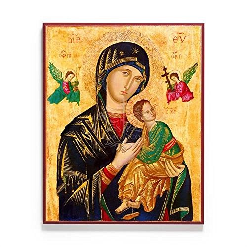 Our Lady of Perpetual Help Icon Mounted on Wood by Legacy Icons (8x10)