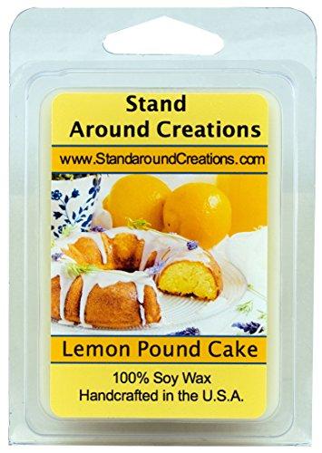 Stand Around Creations Premium 100% Soy Wax Melt Tart - Lemon Pound Cake- A Mouth-Watering Aroma of Warm Lemon Pound Cake w/Bakery Notes of Yellow Pound Cake w/Sweet Lemon Glaze 3oz