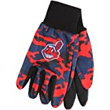 MLB Cleveland Indians Utility Glove, Camouflage, Red