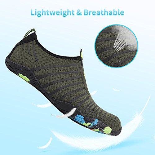Swim Shoes Barefoot Sports Dry b Aqua Shoes Men Z thick Beach Green for Heeta Socks Water Swim Women Quick 6CpwwOq