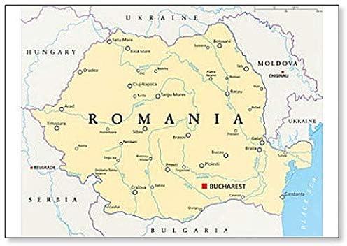 Cartina Mondo Politica Con Capitali.Magnete Da Frigorifero Classico Con Mappa Politica Della Romania Con Capitale Bucarest Amazon It Casa E Cucina