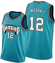 Morant Men's Basketball Jersey, Embroidered Unisex Sleeveless Mesh Sweats