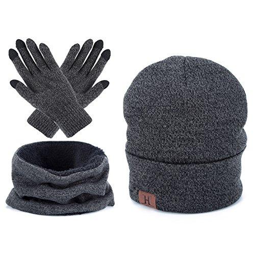 Touch Screen Gloves Unisex Wool Warm gloves ( Grey) - 6