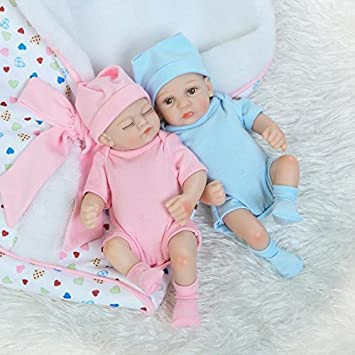 Super detailed reborn dolls preemie bebes real life newborn baby gift full body silicone dolls twins