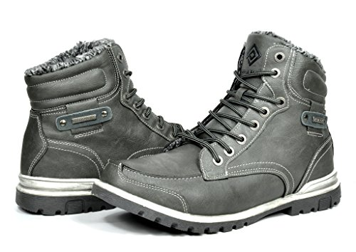 DREAM PAIRS Men's Winter Insulated Laced Up Water ...