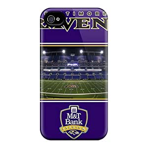 Scratch Resistant Hard Cell-phone Cases For Iphone 4/4s (Ers1195VkCl) Allow Personal Design HD Baltimore Ravens Pattern
